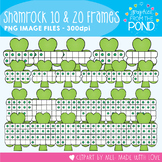 Shamrock Ten and Twenty Frame Clipart