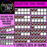 Valentine Tens Frames {Creative Clips Digital Clipart}