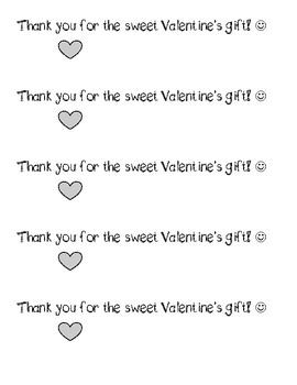 Valentine Thank You Note