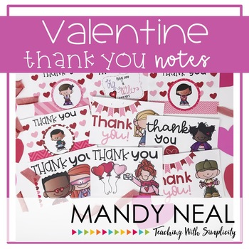 Valentine Thank You Notes