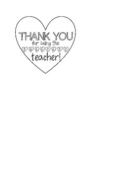 Valentine 'Thank You' Tag for Teachers