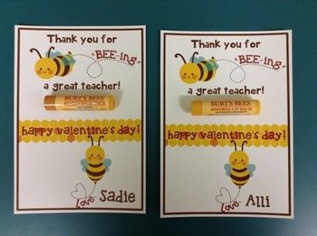Valentine - Thank you for BEEing a great teacher