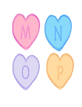 Valentine Theme Heart-Shaped Alphabet Letters & Some ...