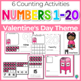 Valentine Theme Numbers 1-20 Counting Activities | Counting to 20 | Math Centers