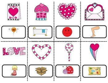 Valentine Theme Read The Room *EDITABLE*  'Eye' Spy Words Using Heart Monocles!