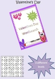 Valentine Theme Wordsearches