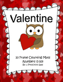 Valentine 10 Frame Counting Mats (1-10)