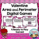Valentine Area and Perimeter Digital Games