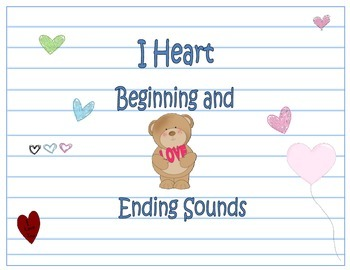 Valentine Themed Beginning and Ending Sound Practice