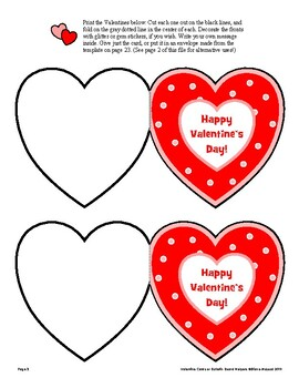 Valentine Themed Cards and Bulletin Board Kit - Print and Use!