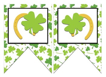 St. Patrick's Themed Editable Bulletin Board Banner
