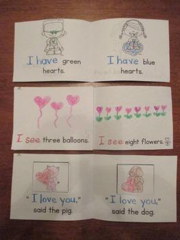 Valentine Themed Emergent Readers:  Set of 3 mini-books