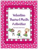 Valentine Themed Math Activities Bundle
