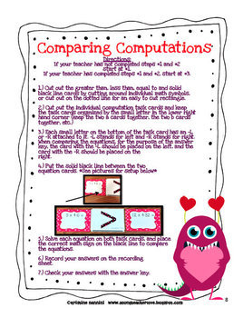 Valentine Themed Math Games, Centers and Activity Pack {Common Core}