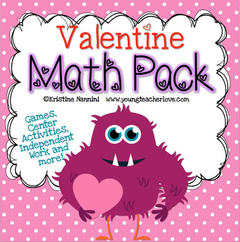 Valentine Themed Math Games, Centers and Activity Pack {Co