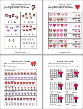 Valentine Themed Math for 1st Grade