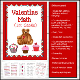 Valentine Themed Math for 1st Grade