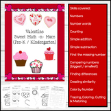 Valentine Themed Math for PreK - Kindergarten