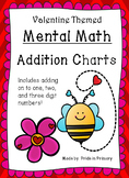 Valentine's Day Themed Mental Math Addition Charts