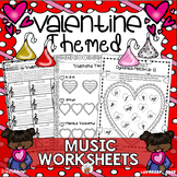 Valentine-Themed Music Worksheets
