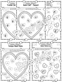 Valentine-Themed Music Worksheets