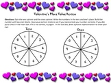 Valentine Themed Place Value Review