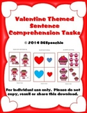 Valentine Themed Sentence Comprehension Tasks