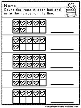 Valentine Themed Supplemental Kindergarten Math Bundle