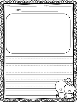 Writing Templates for Valentine's Day