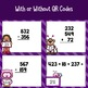 Valentine Three Digit Addition & Subtraction Task Cards with QR Codes