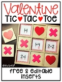 Valentine Tic-Tac-Toe {Editable Inserts for the Target Dol