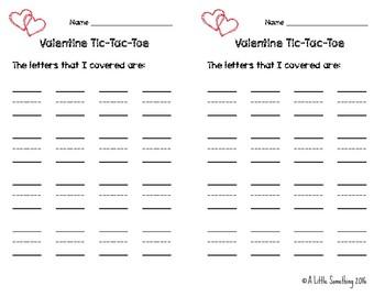 Valentine Tic-Tac-Toe: Letters