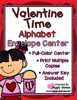 Valentine Time Alphabet Uppercase to Lowercase Envelope Center