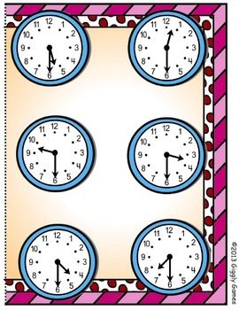 Valentine Time Half Hour File Folder Game