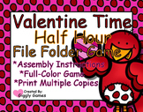 Valentine Time Half Hour File Folder Game