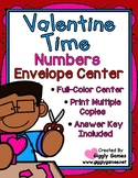 Valentine Time Numbers Envelope Center