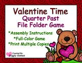 Valentine Time Quarter Past File Folder Game