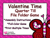 Valentine Time Quarter Till File Folder Game