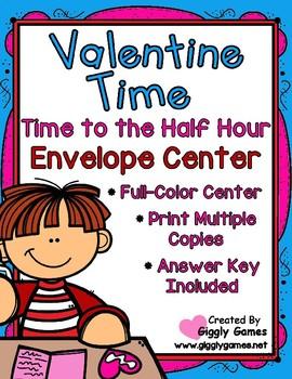 Valentine Time to the Half Hour Envelope Center