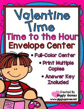 Valentine Time to the Hour Envelope Center