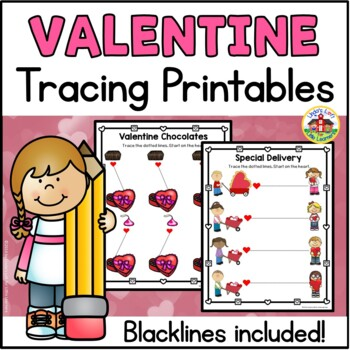 Valentine Tracing Printables