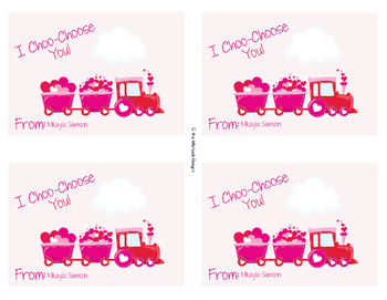 graphic regarding I Choo Choo Choose You Printable Card named Valentine Educate Valentine Playing cards through Everyoul Studio TpT