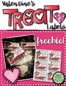Valentine Treat Bag Labels FREEBIE