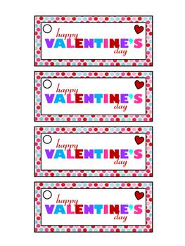 Valentine Treat Bag Tags