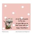 Valentine Treat Bag Topper from Teacher ~ Gender Neutral
