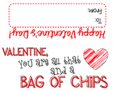 Valentine Treat Bag Toppers for Student Gifts