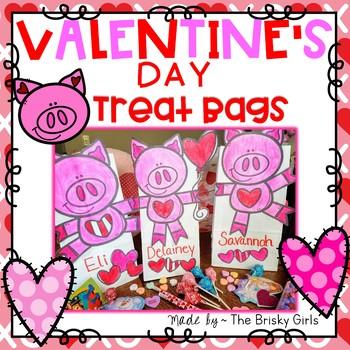 Valentine Treat Bags- Piggy Theme!
