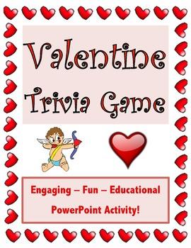 Valentine's Day Trivia Game // Valentine Game // Valentine