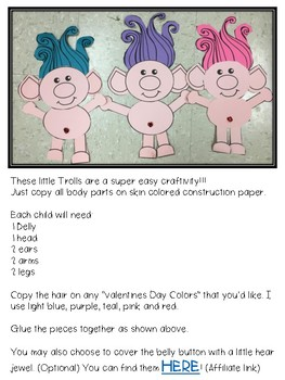 Valentine Troll Craft for Valentine's Day (Love is in the Hair)