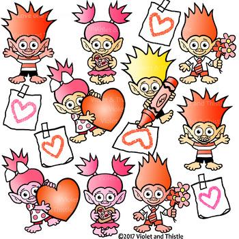 valentine trolls clipart valentine mailbox card heart drawing clip rh teacherspayteachers com